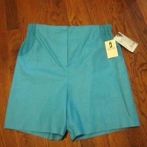 NEW Maternity Shorts Linen Blend AQUA M